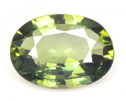 0.99 Cts Un Heated Green Color Natural Tourmaline Loose Gemstone