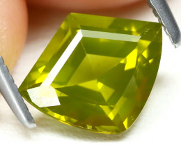 Peridot 1.63Ct VS Shield Cut Natural Neon Green Color Peridot AB1440