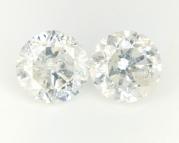 2/0.63 CTS , Natural White Diamonds , Loose Light Color Diamond