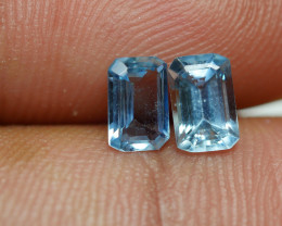 0.965 CRT 2 PCS PAIR BEAUTY CUT AQUAMARINE-