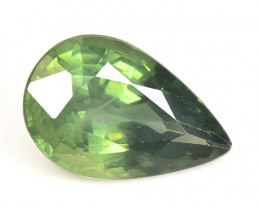 1.76 Cts Amazing Rare Natural Fancy Green Sapphire Loose Gemstone