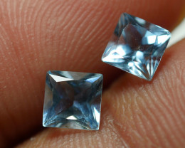 1.280 CRT 2 PCS PAIR BEAUTY CUT AQUAMARINE-