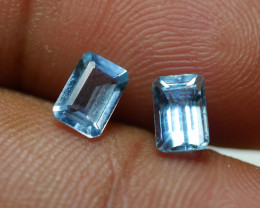 1.120 CRT 2 PCS PAIR BEAUTY CUT AQUAMARINE-