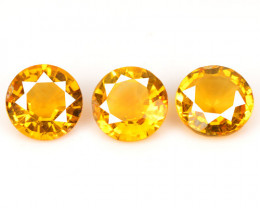 1.65 Cts 3 Pcs Fancy Golden Yellow Color Natural Citrine Gemstone