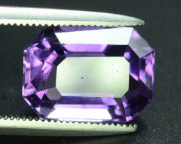 Lovely Color 4.35 ct Attractive Emerald  cut Amethyst