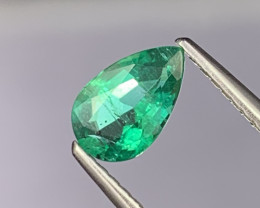 Vivid Green AAA Grade Natural Emerald 0.72 Cts Fine Luster