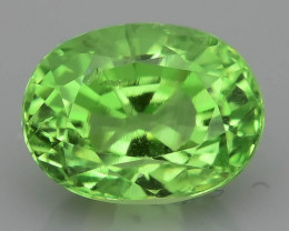 Glowing Tsavorite Garnet 1.10 ct Mint  Green Tanzania  SKu-9