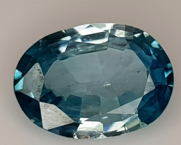 1.89CT BLUE ZIRCON BEST QUALITY GEMSTONE IIGC45