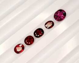 5.35CT GRAPE GARNET PARCEL BEST QUALITY GEMSTONE IIGC45