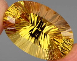 51.90 ct. Top Quality Natural Golden Yellow Citrine Brazil Unheated