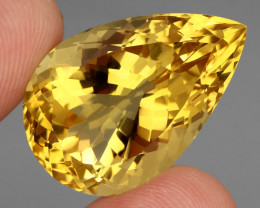 43.91 ct. Top Quality Natural Golden Yellow Citrine Brazil Unheated