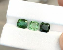 4.05 Ct Natural Green Transparent Tourmaline Gemstones Parcels