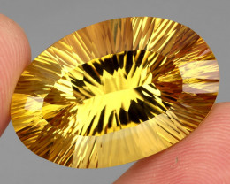 42.51 ct. Top Quality Natural Golden Yellow Citrine Brazil Unheated