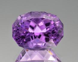 Natural  Amethyst 15.74 Cts Precision Cut Gemstone