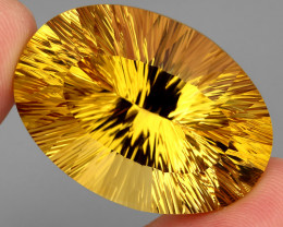 117.12  ct. Top Quality Natural Golden Yellow Citrine Brazil Unheated