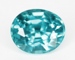 0.91 Cts Blue Zircon Natural Gemstone