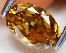 Yellowish Orange Diamond 0.73Ct Natural Untreated Fancy Diamond AT0073