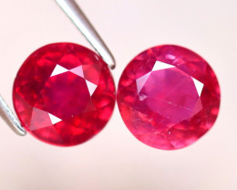 Ruby 6.45Ct 2Pcs Madagascar Blood Red Ruby EF1416/A20