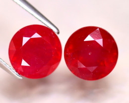 Ruby 6.33Ct 2Pcs Madagascar Blood Red Ruby EF1417/A20