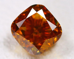 Reddish Orange Diamond 0.27Ct Natural Untreated Fancy Diamond AT0064