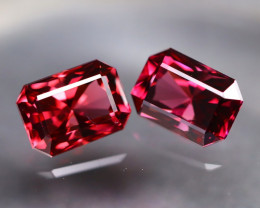 Mahenge Garnet 2.40Ct 2Pcs VVS Octagon Cut Natural Mahenge Garnet AT0068