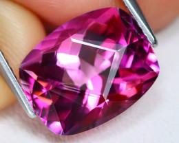 Pink Topaz 6.48Ct VVS Master Cut Natural Vivid Color Pink Topaz AT0072