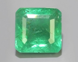 2.05 CTS NATURAL ZAMBIAN EMERALD UNHEATED  OCTAGON CUT~EXCELLENT!$220.00