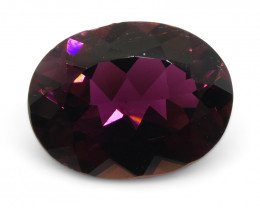 1.37ct Oval Reddish Purple Rubelite Tourmaline - $1 No Reserve Auction