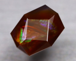 Fire Agate 5.83Ct Master Cut Natural Mexican Fire Agate AT0085