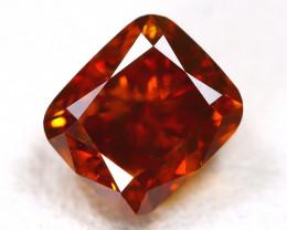 Orange Diamond 0.38Ct Natural Untreated Fancy Orange Diamond AT0086
