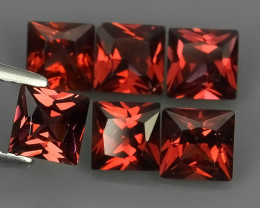 4.20 Cts_Oval Cut_Marvelous_Electric Red_Africa_Sizzling_Rhodolite_~