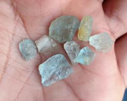 25 CT Aquamarine Rough Gemstones Parcel Genuine Gems VA1044