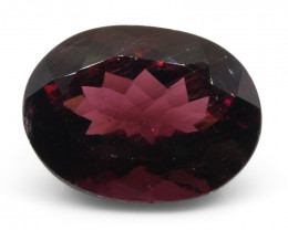 7.02ct Oval Reddish Purple Rubelite Tourmaline