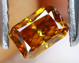Orange Diamond 0.24Ct Natural Untreated Fancy Diamond AT0129