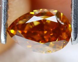Orange Diamond 0.51Ct Natural Untreated Fancy Diamond AT0132