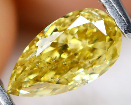 Yellow Diamond 0.38Ct Natural Untreated Fancy Diamond AT0139
