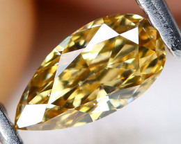 Orangy Yellow Diamond 0.34Ct Natural Untreated Fancy Diamond AT0140