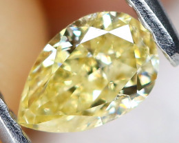Yellow Diamond 0.32Ct Natural Untreated Fancy Diamond AT0147