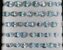 109 Cas Natural Blue Aquamarine Gemstone