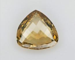 0.28 CT , Rare Natural Orangy Yellow Diamond , Triangle Rose Briolette