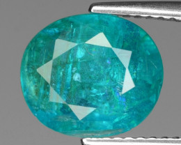 3.66 Cts Un Heated Natural Neon Blue Apatite Loose Gemstone