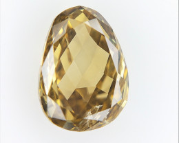 0.64 CT , Rare Natural Briolette Diamond  ,  Natural Diamond Bead