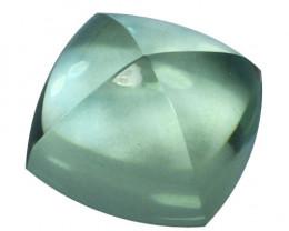 ~SUPERIOR~ 6.04 Cts Natural Green Prasiolite / Amethyst Sugarloaf Cut Brazi