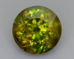 Rare AAA Fire 2.08 ct Chrome Sphene Sku-59