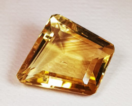 7.07 ct AAA Quality Fancy Cut Golden Orange Natural Citrine
