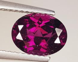 2.60 ct Top Grade Oval Cut Natural Purple Pink Rhodolite Garnet