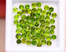 4.59ct Natural Chrome Diopside Round Cut Lot GW7950