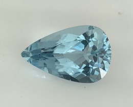Luminous Aqua Blue Pear Shape Topaz - Brazil