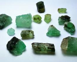 Beautiful Natural color Rough Emerald lot 60 Cts-Afghan L-V