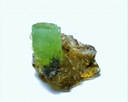 Amazing Natural color Damage free Thumbnail size  Emerald specimen with Qua